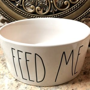 "🐶2/$48. Rae Dunn 8"" diameter pet food bowl. New"